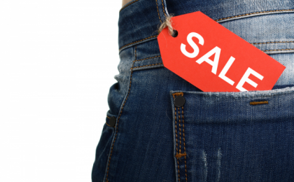 Jeans Pocket Sale Tag