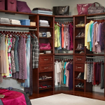 Wood panel closet