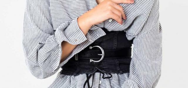 Chic wide black belt