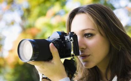 Woman & camera